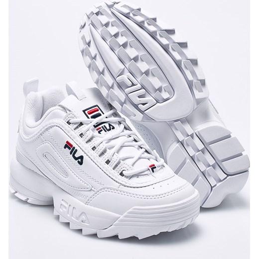 tani Buty sportowe damskie Fila białe bez wzorów Buty