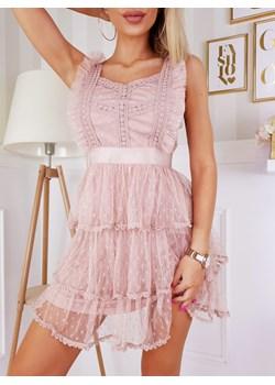 Sukienka Beauty Mini Nude  Fashionyou  - kod rabatowy