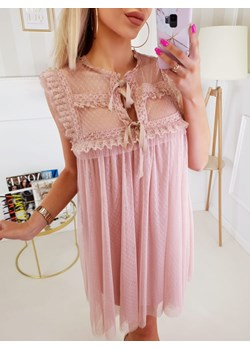 Sukienka Beauty Nude Groszek  Fashionyou  - kod rabatowy