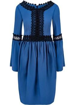 SO CHIC - Sukienka mini z gipiurowymi wstawkami   My Image Art - kod rabatowy