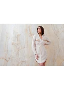 Kremowa sukienka szmizjerka z ozdobnymi kieszeniami ELSA  Endoftheday END OF THE DAY - kod rabatowy