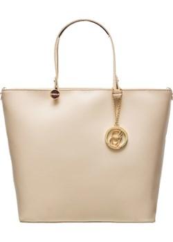Damska skórzana torebka do ręki Glamorous by GLAM - beżowy Glamorous By Glam Glamadise.pl - kod rabatowy