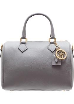 Damska skórzana torebka do ręki Glamorous by GLAM - szary Glamorous By Glam Glamadise.pl - kod rabatowy