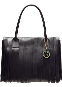 Damska skórzana torebka na ramię Glamorous by GLAM - czarny Glamorous By Glam Glamadise.pl - kod rabatowy