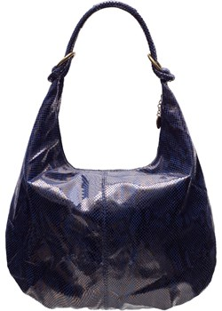 Damska skórzana torebka na ramię Glamorous by GLAM - granatowy Glamorous By Glam Glamadise.pl - kod rabatowy