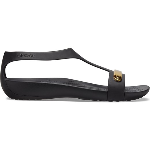 Crocs sandały damskie na lato gładkie płaskie casualowe z