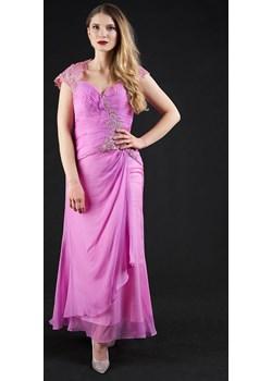 Sukienka długa z rękawkiem różowa  Rokado  - kod rabatowy