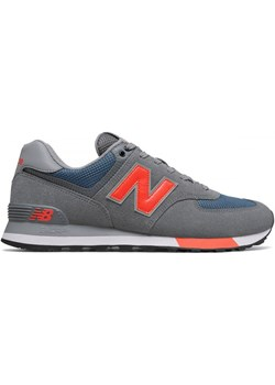 Buty ML574 New Balance (szare/pomarańczowy neon)  New Balance SPORT-SHOP.pl wyprzedaż  - kod rabatowy