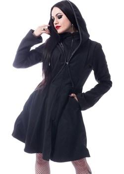 Gotycki płaszcz z kapturem Melina Coat Poizen Industries  rockzone.pl - kod rabatowy