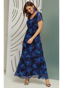 Sukienka maxi Luna w intensywnym kobaltowym kolorze  Kaskada sklepcdn.pl - kod rabatowy