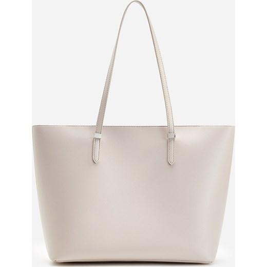Shopper bag Reserved matowa na ramię wakacyjna mieszcząca a6