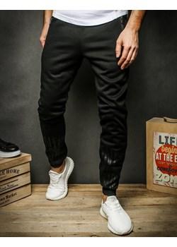 Spodnie męskie dresowe czarne UX2326 Dstreet   promocyjna cena  - kod rabatowy