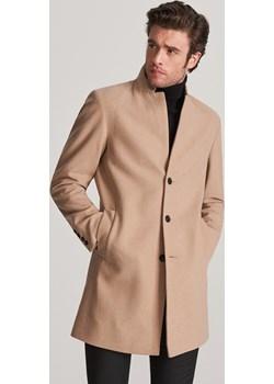 Reserved - Płaszcz z wełną - Beżowy  Reserved  - kod rabatowy