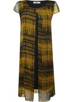 Sukienka z szfonową warstwą   elite - kod rabatowy