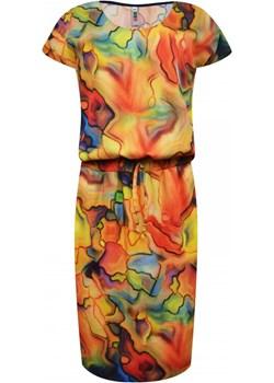Sukienka z gumą w pasie   elite - kod rabatowy