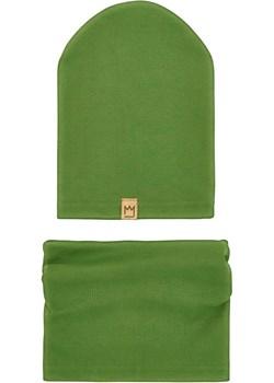 Zestaw bawełniany czapka i komin, zielone jabłko Mimi TuSzyte - kod rabatowy