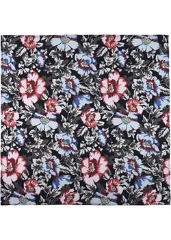 Poszetka jedwabna czarna w kwiaty EM 284 Em Men`s Accessories  EM Men's Accessories - kod rabatowy
