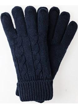 Rękawiczki wełniane granatowe długie EM 2 Em Men`s Accessories  EM Men's Accessories - kod rabatowy