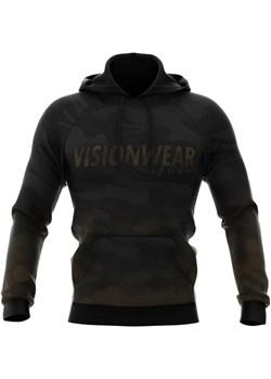 BLUZA Z KAPTUREM CAMOUFLAGE Czarna S Vision Wear Sport visionwearsport - kod rabatowy
