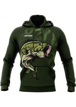 BLUZA Z KAPTUREM FISH Zielony S Vision Wear Sport visionwearsport - kod rabatowy