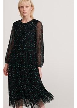 Reserved - Sukienka w groszki - Czarny Reserved  wyprzedaż   - kod rabatowy
