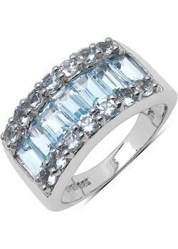 BELINDA  ; Srebrny pierścionek  z blue topaz zielony Braccatta  - kod rabatowy