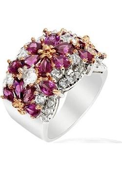 FRIDA; Srebrny pierścionek z rodolitami fioletowy Braccatta  - kod rabatowy