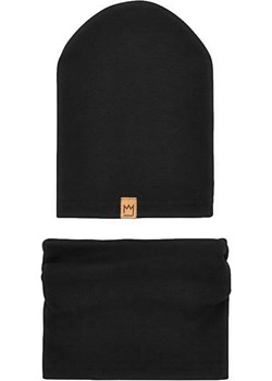 Zestaw bawełniany czapka i komin w kolorze czarnym Mimi TuSzyte okazyjna cena - kod rabatowy