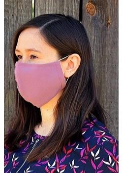 Maska z kieszonką na filtr/śliwka  Galante Towary Mustache.pl - kod rabatowy