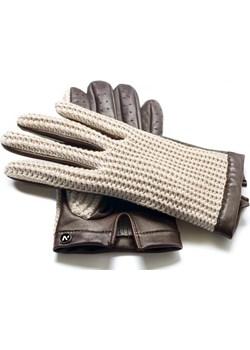 napoCROCHET (brązowy/kremowy)  napo gloves  - kod rabatowy