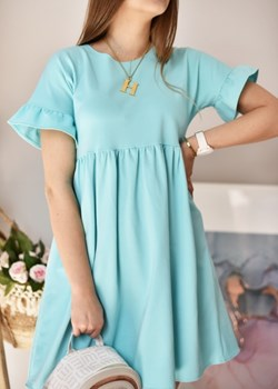 Sukienka summer turkusowa Fason   - kod rabatowy