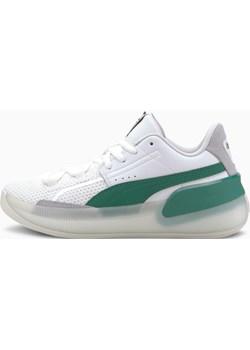 PUMA Buty Koszykarskie Clyde Hardwood Youth, Biały / Zielony, rozmiar 35,5, Obuwie Puma okazja PUMA EU - kod rabatowy