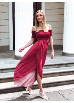 Sukienka Hiszpanka Venus Flower Bordowa  Fashionyou  - kod rabatowy
