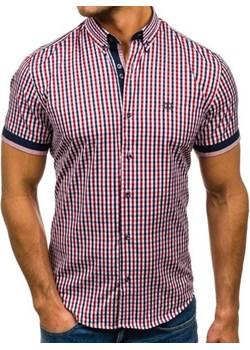 Koszula męska BOLF 4510 czerwona Denley.pl  okazyjna cena   - kod rabatowy