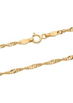 złoty damski łańcuszek singapur 45 cm Irbis.style irbis.style - kod rabatowy