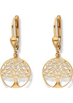 złote kolczyki wiszące drzewko Irbis.style irbis.style - kod rabatowy