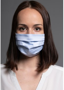 1540 Bawełniana maska Classic  Niebieski & Błękitny Bawełna 100%   MASKKA - kod rabatowy