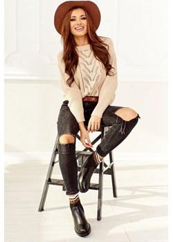 Sweter ażurowy beżowy Gina Shopaholics Dream  wyprzedaż SHOPAHOLIC`S DREAM  - kod rabatowy
