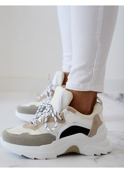 Adidasy Simply biało-beżowe  Shopaholics Dream SHOPAHOLIC`S DREAM - kod rabatowy