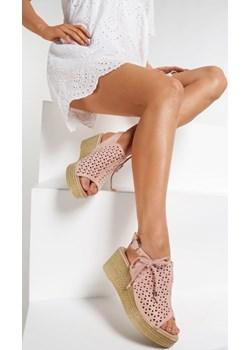Różowe Sandały Diorena  Renee renee.pl - kod rabatowy