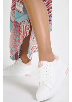 Biało-Różowe Sneakersy Siniophe Renee  renee.pl - kod rabatowy
