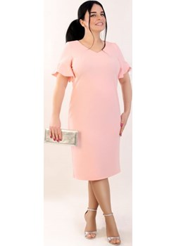 Sukienka ELENA, pudrowy róż   Oscar Fashion - kod rabatowy