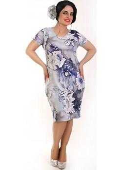 Sukienka maskująca niedoskonałości , Plus Size wzór 13   Oscar Fashion - kod rabatowy