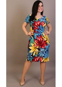 Sukienka maskująca niedoskonałości Plus Size wzór 30   Oscar Fashion - kod rabatowy
