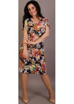 Sukienka maskująca niedoskonałości Plus Size wzór 12   Oscar Fashion - kod rabatowy