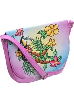 Piękna torebka folk ręcznie malowana skóra handmade wyprzedaż torebki-skorzane.pl - kod rabatowy