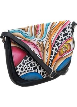 Piękna torebka folk ręcznie malowana skóra handmade okazja torebki-skorzane.pl - kod rabatowy