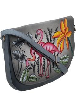 Piękna torebka folk ręcznie malowana skóra handmade torebki-skorzane.pl wyprzedaż - kod rabatowy