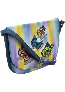 Piękna torebka folk ręcznie malowana skóra handmade torebki-skorzane.pl okazyjna cena - kod rabatowy