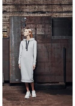 HOODED DRESS Light Grey Melange XS okazja DISMISSED - kod rabatowy